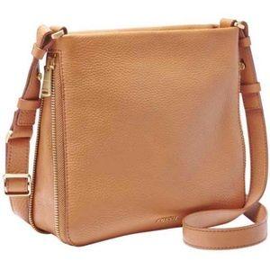 Fossil Preston leather cross boy bag purse zip